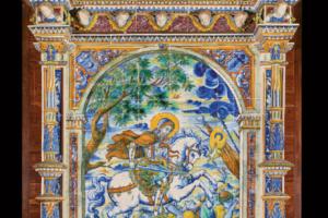 RETABLO DE SANTIAGO 1917 Fábrica de cerámica Nuestra Señora del Prado, (Talavera de la Reina) Museo Ruiz de Luna, Talavera de la Reina